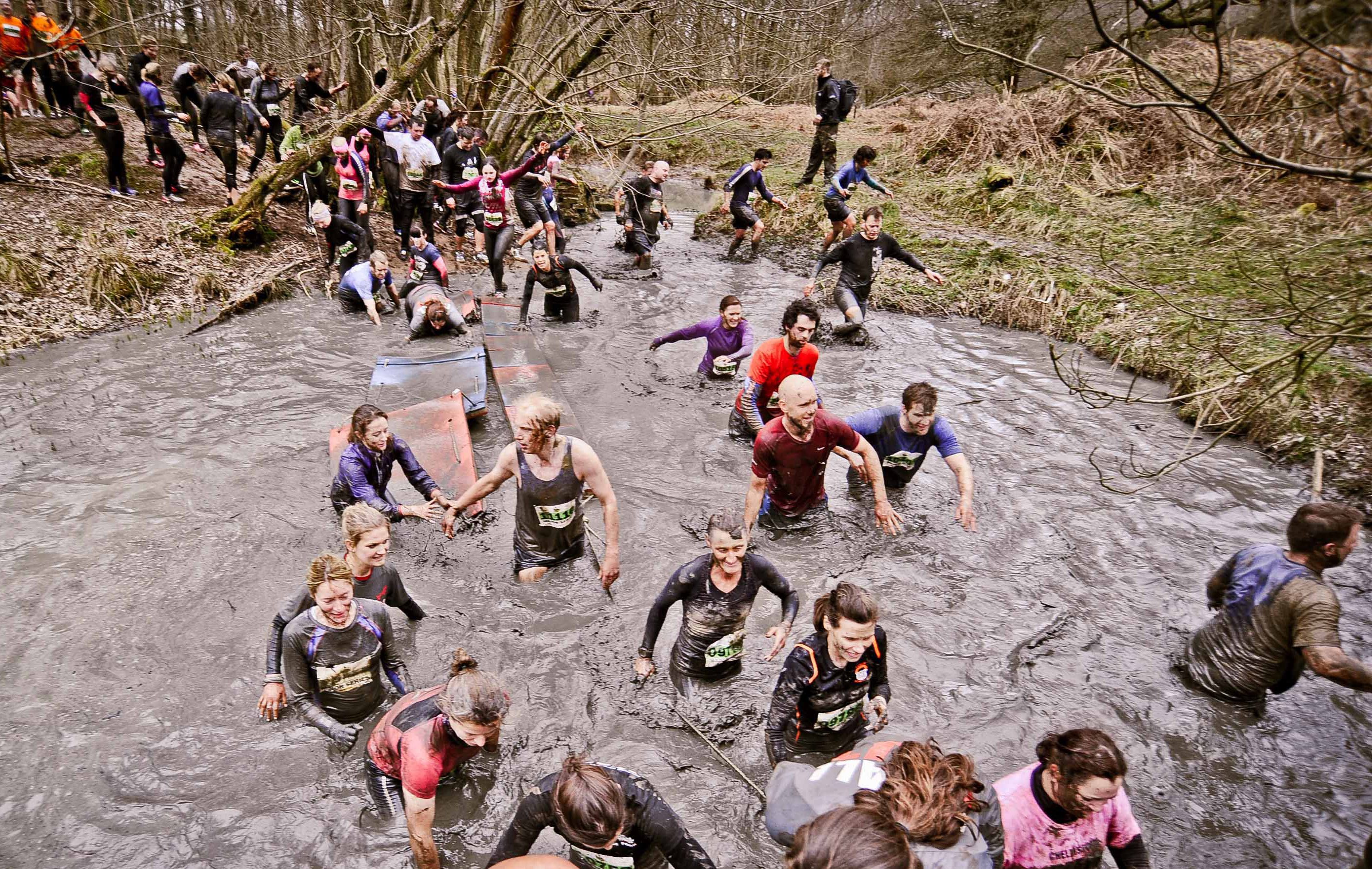 Assault course charity fund raising